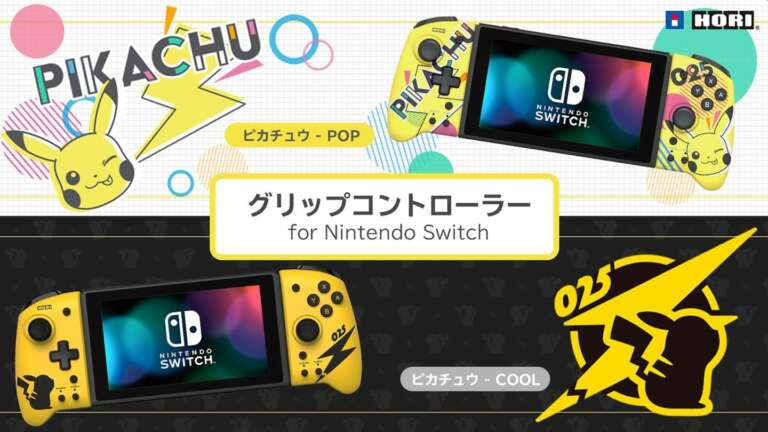 Hori Announces Adorable Line Of Pikachu-Themed Nintendo Switch Accessories