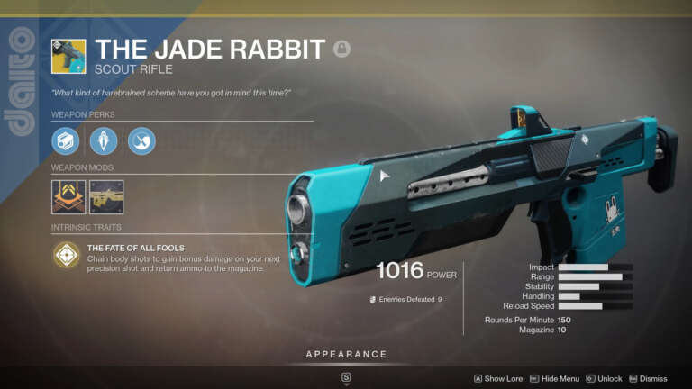 Destiny 2: Xur Returns With Exotic Goodies For The Holidays - Jade Rabbit In Stock 12-18